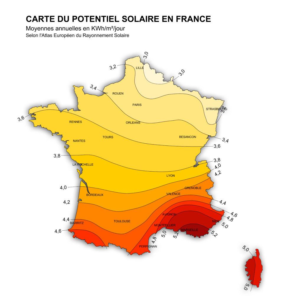 Ensoleillement France