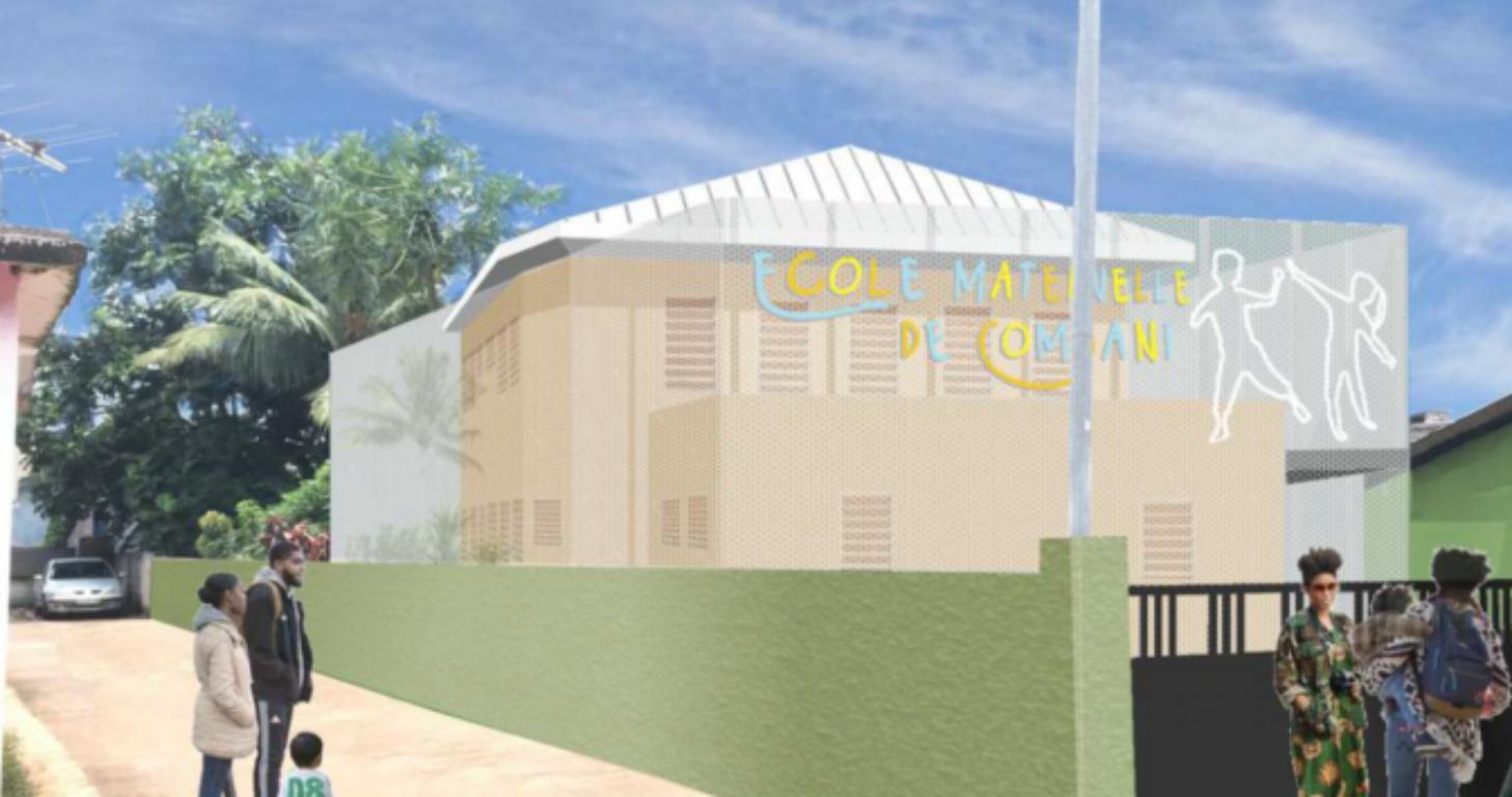 construction d'une école combani